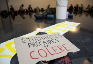 Précarité étudiante :  occupation en cours au siège du gouvernement de la FWB